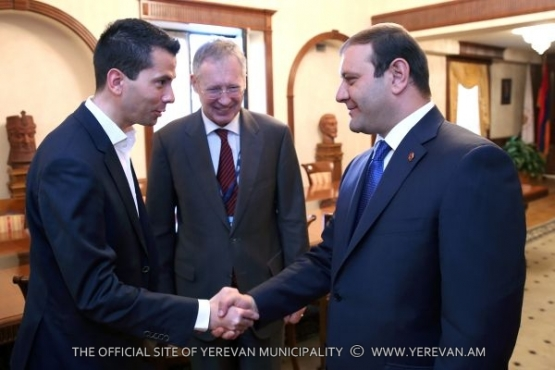 Mayor Taron Margaryan had a meeting with the delegate of German Bundestag Martin Patzold