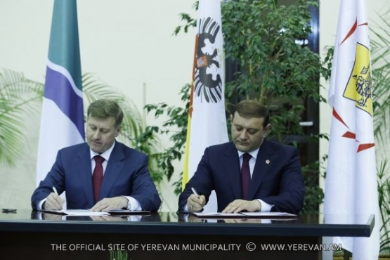 Yerevan and Novosibirsk have signed an agreement on sisterhood establishment