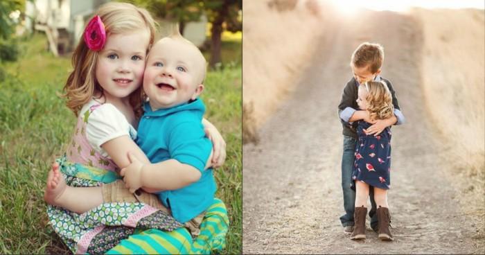 брат с сестрой нежно фото