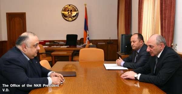 Бако Саакян принял председателя Национальной комиссии по телевидению и радио Армении