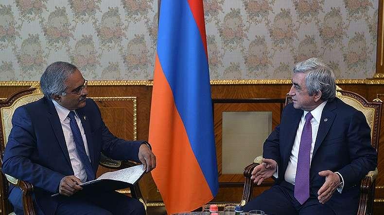 Президент Армении и посол Индии обсудили вопросы двустороннего сотрудничества