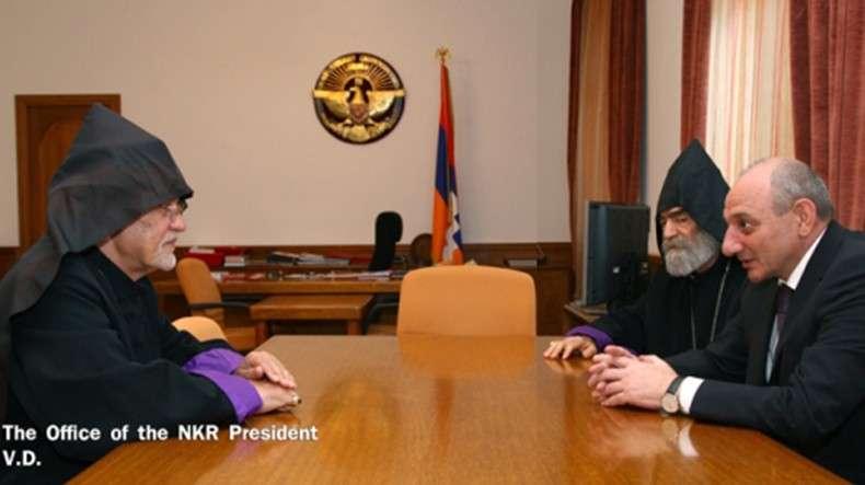 Бако Саакян выразил признательность предводителю Тегеранской епархии ААЦ за постоянное содействие НКР