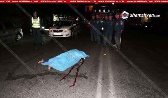 """""""Mercedes"""" сбил насмерть женщину в Ереване"""