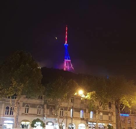 Թբիլիսիի հեռուստաաշտարակը լուսավորվել է Հայոց եռագույնի գույներով