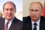 Ի սրտե շնորհավորում եմ Ձեզ. Վլադիմիր Պուտինը՝ Արմեն Սարգսյանին