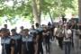 Քոչարյանի կողմնակիցները քայլերթով շարժվում են դեպի ԱԱԾ, որտեղ տեղի կունենա նրա կալանավորումը
