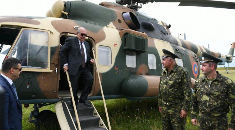 Արմեն Սարգսյանն ուղղաթիռով է գնացել Լոռու մարզ