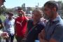 «Սանիտեքի» աշխատակիցները հավաքվել են քաղաքապետարանի մոտ