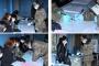 Նախքան ընտրատեղամասեր այցելելը, զինծառայողներին բաժանվում են պաշտպանիչ դիմակներ, ձեռնոցներ և ախտահանիչ միջոցներ