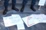 Ակցիայի մասնակիցները հեռացան ՔՊ գրասենյակի մոտից՝ այստեղ թողնելով իրենց հետ բերած պաստառները