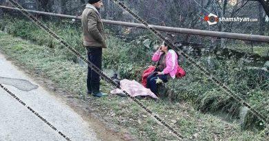 Լոռու մարզում` Դսեղ գյուղի 5-րդ փողոցին հարակից դատարկ ջրատարի մեջ, կնոջ դի է հայտնաբերվել. վարկածներից մեկով տեղի է ունեցել վրաերթ